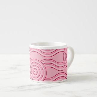 Xícara De Espresso Flores aborígenes do gumnut da arte