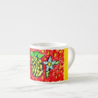 Xícara De Espresso flores do abacaxi
