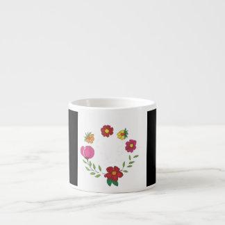 Xícara De Espresso flores no branco preto de n