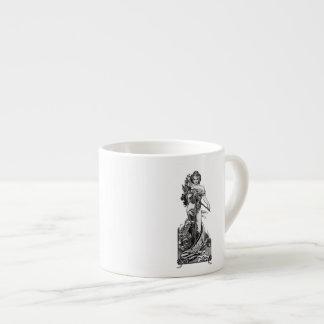 Xícara De Espresso Flores quebradas Mucha de Alphonse