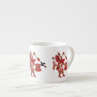 Xícara De Espresso Guerreiro asteca do shaman da dança