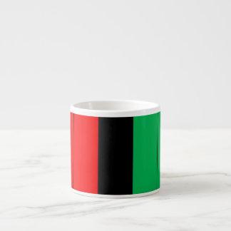 Xícara De Espresso Kwanzaa Kinara verde preto vermelho listra o teste