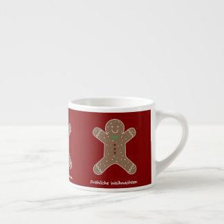 Xícara De Espresso Lebkuchenmann Fröhliche Weihnachten