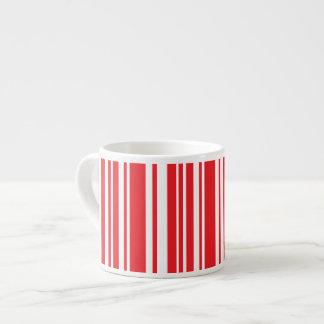Xícara De Espresso Listras vermelhas
