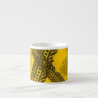 Xícara De Espresso Marcação de estrada preta afligida Grunge da