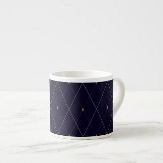 Xícara De Espresso Marinho brilhante Argyle do diamante