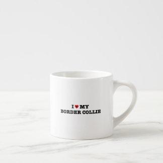 Xícara De Espresso Mim coração meu copo do café de border collie