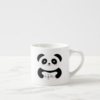 Xícara De Espresso Monograma feminino bonito do urso de panda do bebê