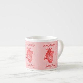 Xícara De Espresso Namorados felizes do dia dos corações