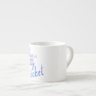 Xícara De Espresso O amor é um bilhete da maneira