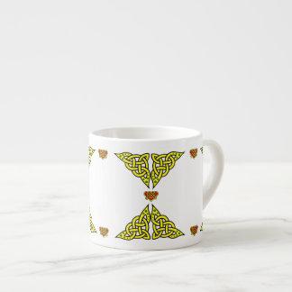 Xícara De Espresso O céltico/Gadhlig trançou o nó do design, design 2