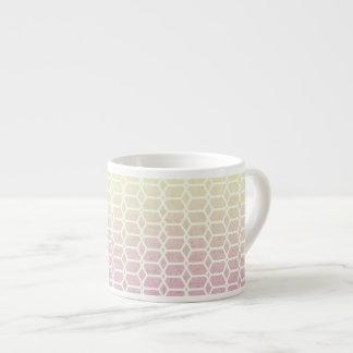 Xícara De Espresso O pêssego sonha geométrico
