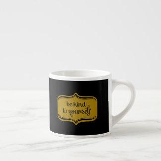 Xícara De Espresso O preto luxuoso do ouro seja amável a o senhor