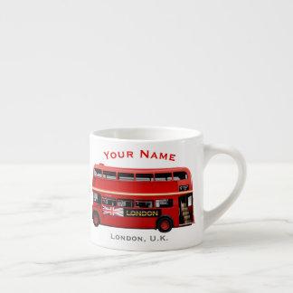 Xícara De Espresso Ônibus vermelho de Londres temático