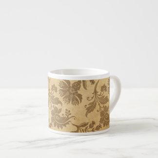 Xícara De Espresso Padrões de flor abstratos do outono/queda