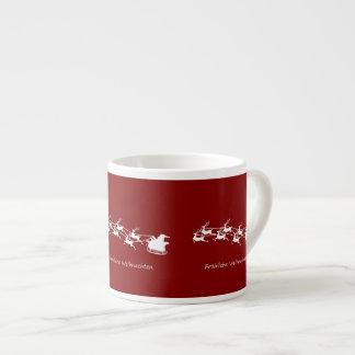 Xícara De Espresso Papai noel no trenó Fröhliche Weihnachten