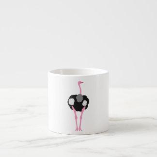 Xícara De Espresso Pássaro da avestruz