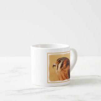 Xícara De Espresso Pintura americana do Kestrel - arte original do