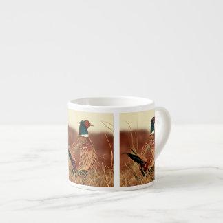 Xícara De Espresso Pintura Anel-Necked do faisão
