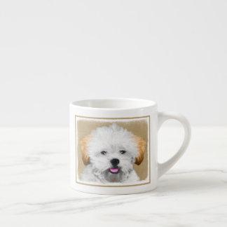Xícara De Espresso Pintura do filhote de cachorro de Lhasa Apso -