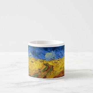 Xícara De Espresso Pintura dos campos de trigo de Van Gogh