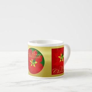 Xícara De Espresso Poinsétia