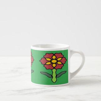 Xícara De Espresso Poinsétia bonito