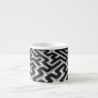 Xícara De Espresso Preto de prata do labirinto