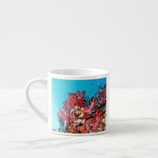 Xícara De Espresso Recife de corais vermelho