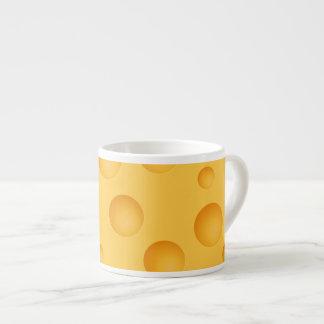 Xícara De Espresso Teste padrão amarelo do queijo