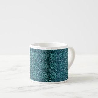 Xícara De Espresso Teste padrão antigo real luxuoso floral