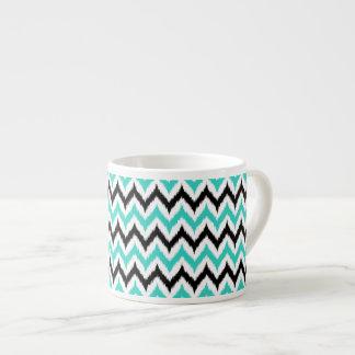 Xícara De Espresso Teste padrão branco, preto e de turquesa do
