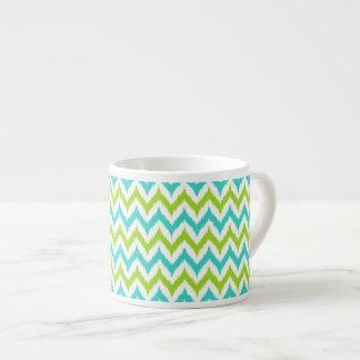 Xícara De Espresso Teste padrão branco, verde e de turquesa do