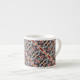 Xícara De Espresso Teste padrão Brooklyn-Moderno dos Brushstrokes