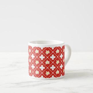 Xícara De Espresso Teste padrão de Edelweiss da suiça