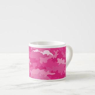 Xícara De Espresso Teste padrão feminino romântico do rosa da