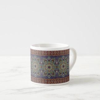 Xícara De Espresso Teste padrão floral étnico abstrato colorido da