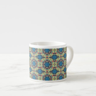 Xícara De Espresso Teste padrão floral étnico abstrato colorido de da