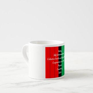 Xícara De Espresso Teste padrão verde preto vermelho das listras dos