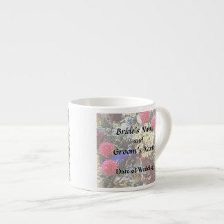 Xícara De Espresso Variedade das flores secadas que Wedding fontes
