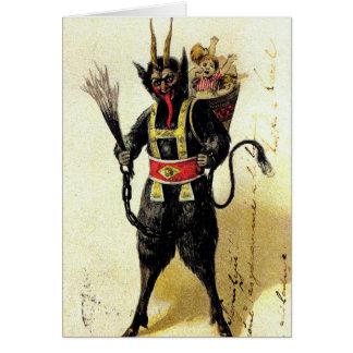 Xmas assustador mau do Natal do feriado do demónio Cartão Comemorativo