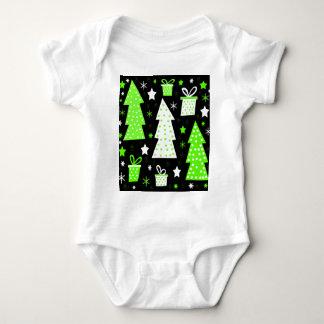 Xmas brincalhão verde body para bebê