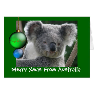 Xmas da feliz do cartão do Koala de Austrália