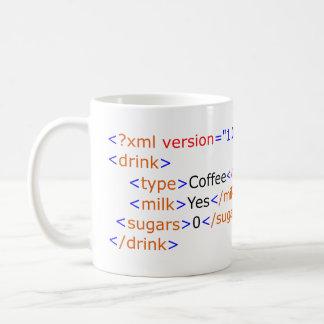XML que programa a caneca de café