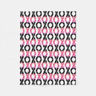 XOXO teste padrão preto & cor-de-rosa de | Cobertor De Lã