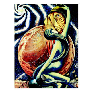 XVII o cartão de Tarot da estrela Cartão Postal