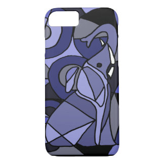 XW- design do elefante da arte abstracta Capa iPhone 7