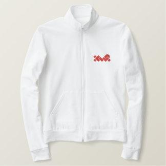 XWP branco/vermelho bordou a jaqueta do basculador