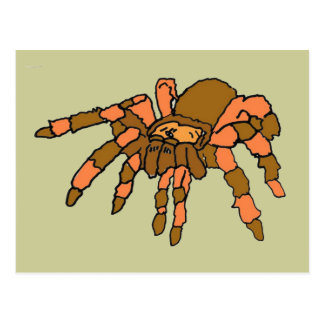 XX- aranha divertida do Tarantula Cartão Postal