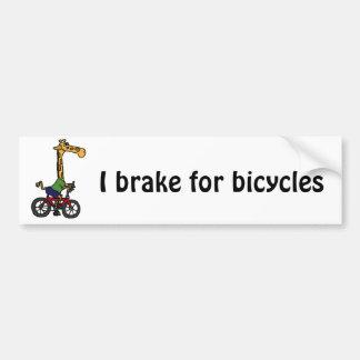 XX- desenhos animados engraçados da bicicleta da e Adesivo Para Carro